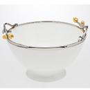Godinger 7230 Golden Blossom Salad Bowl