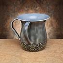 Godinger 77077 Gray Floral Wash Cup