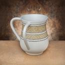 Godinger 77098 White Scroll Resin Wash Cup