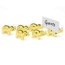 Godinger 7852 Gold Elephant Place Card Holder Set of 6