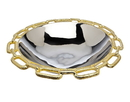 Godinger 82733 Gold Chain Bordr Round Bowl