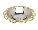 Godinger 82734 Gold Chain Bordr Round Bowl