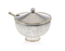 Godinger 84107 Golden Frost Jam Jar/spoon