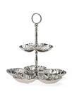 Godinger 90540 Cabbage Leaf 2 Tier Server