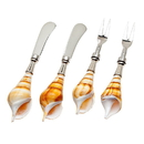Godinger 91401 S/4 Pate/fork Conch/shell Hndl