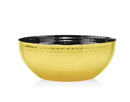 Godinger 91686 Hammered Gold 6 Rond Nut Bowl