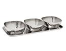 Godinger 91790 Hammered Tray & 3 Square Bowls