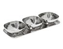 Godinger 91792 Hammered Tray & 3 Small Bowls