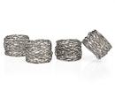 Godinger 94251 S/4 Round Mesh Napkin Rings