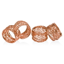 Godinger 94256 S/4 Copper Rnd Mesh Napkn Ring