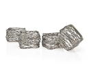 Godinger 9425 S/4 Square Mesh Napkin Rings
