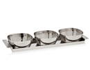 Godinger 94436 Croco Tray With 3 Square Bowls