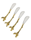Godinger 94722 Leaf Design Set of 4 Spreaders