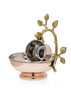 Godinger 94973 Copper Leaf Wash Cup With Bowl