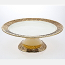Godinger 95603 Greek Key Cake Stand