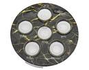 Godinger 96740 Black Marble Decal Seder Plate