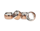 Godinger 99326 Copper Napkin Ring Hammered Set of 4