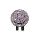 GOGO Smiley Crystal Hat Clip Ball Marker