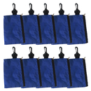 GOGO 10PCS Golf Tee Holder, Valuables Pouch, Tool Pouch with Zipper and Carabiner