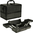Ver Beauty C0211KLAB Black Krystal 4-Tiers Expandable Trays Makeup Case - C4211