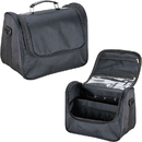 Ver Beauty HK3605NLAB Black Soft_Sided Travel Makeup Case with Mesh and Clear Pockets - HK3605
