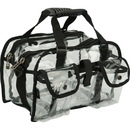 Casemetic PC04BK Clear Set Bag Double Storage Compartment 3 External Pockets And Shoulder Strap - Pc04