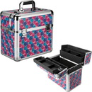 Hiker PT4302RSRD Multi Color Floral Pattern Easy Slide Extendable Trays Professional Cosmetic Makeup Case With Dividers - Pt4302