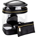 Ver Beauty VB001-11 Vintage Transparent Beauty Waterproof Travel Bag with Gold Zipper Closure - VB001