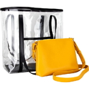 Ver Beauty VB003-11 2-in-1 Transparent Beauty Waterproof Tote Handbag with Removable Purse - VB003