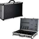 Just Case VBK001-61 Black Stripe Professional Barber Portable Travel Case w/Shears Holder and Clipper Pockets - VBK001