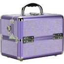 Ver Beauty VK004-48 Purple Krystal 4-Tiers Cantilever Trays Makeup Case - VK004