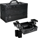 Ver Beauty VK3201SNAB Black Python 6-Tiers Accordion Trays Professional Cosmetic Makeup Train Case - VK3201