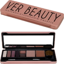Ver Beauty VMP1413TNNT Natural Eyeshadow, Eyebrow Cream, Contour and Face Powder Tin Box with Mirror and Brush - VMP1413