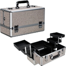 Ver Beauty VP001-510 Beige Glitter 6-Tiers Accordion Trays Professional Cosmetic Makeup Train Case - VP001