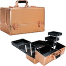 Ver Beauty VP001-75 Rose Gold Dot 6-Tiers Accordion Trays Professional Cosmetic Makeup Train Case - VP001