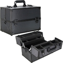 Ver Beauty VP005-72 Black Dot 4-Tiers Extendable Trays Professional Cosmetic Makeup Case with Dividers - VP005