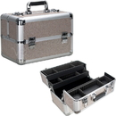 Ver Beauty VP006-510 Beige Glitter 4 Extendable Trays Professional Cosmetic Makeup Case with Dividers - VP006