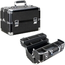 Ver Beauty VP006-51 Black Glitter 4 Extendable Trays Professional Cosmetic Makeup Case with Dividers - VP006
