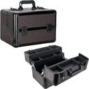 Ver Beauty VP006-81 Black Diamond 4 Extendable Trays Professional Cosmetic Makeup Case with Dividers - VP006