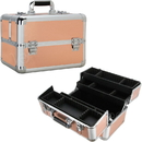 Ver Beauty VP007-25 Rose Gold 4 Extendable Trays Professional Cosmetic Makeup Case with Dividers - VP007