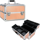 Ver Beauty VP007-75 Rose Gold Dot 4 Extendable Trays Professional Cosmetic Makeup Case with Dividers - VP007