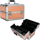Ver Beauty VP007-85 Rose Gold Diamond 4 Extendable Trays Professional Cosmetic Makeup Case with Dividers - VP007
