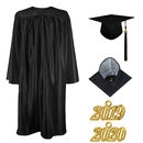 TOPTIE Unisex Shiny Preschool and Kindergarten Graduation Gown Cap Tassel Set 2019 Costume Robes for Baby Kids