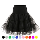TOPTIE Women 50s Petticoat Skirts Rockabilly Dress Tutu Crinoline Underskirt Swing Dress Lady's Princess Skirt Christmas Skirt