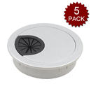Desk Grommet 2 and 2-3/8 Inch, Plastic Table Wire Cable Organizer Cord Hole Cover for Office Classroom, Abs