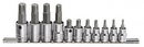 "Genius Tools 11PC 3/8"" & 1/2"" Dr. Ribe Bit Socket Set - BS-3411S"