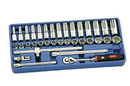 "Genius Tools 35PC 3/8"" Dr. Metric Deep Hand Socket Set - EU-335M"