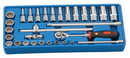 "Genius Tools 30PC 3/8"" Dr. SAE Deep Hand Socket Set - GS-330S"