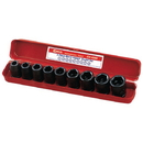 "Genius Tools 9PC 1/2"" Dr. Metric Impact Socket Set (CR-Mo) - GS-409M"