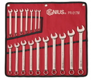 Genius Tools PR-017M 17PC Metric Combination Wrench Set (Mirror Finish)